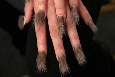 a furry manicure