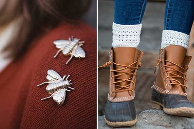 brooch and winter socks