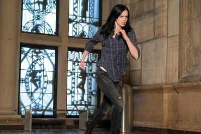 Jessica Jones runs without a superhero cape