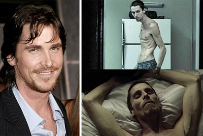 Christian Bale looking skinty and sickly