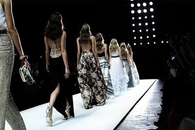 models on a new york fashion week runway