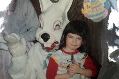 a creepy easter bunny