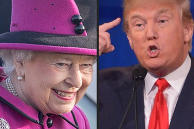 Donald Trump and The Queen are the subject of a fake news story.