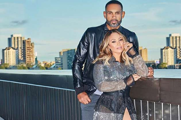 Tamia Hill and Grant Hill