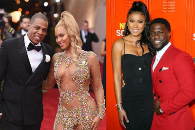 Jay-Z Beyonce and Eniko Parrish Kevin Hart
