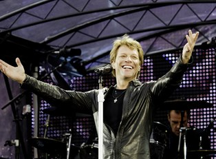 Jon Bon Jovi on stage.