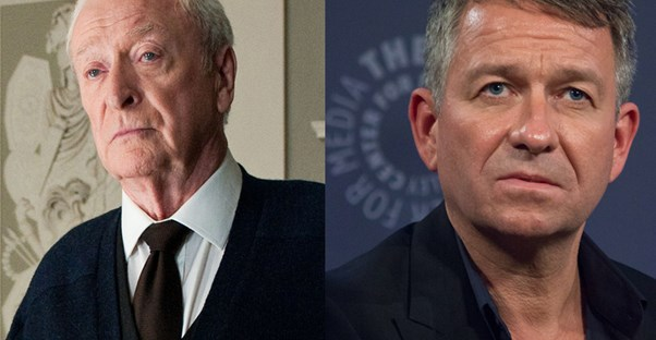 An image of Michael Caine next to an image of Sean Pertwee