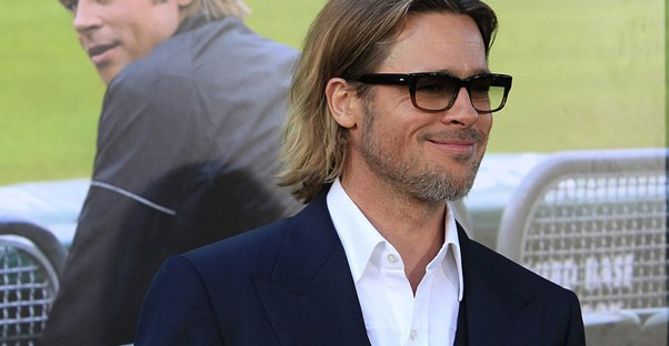 Brad Pitt in glasses