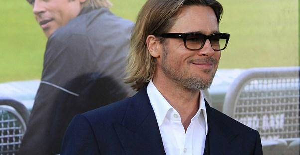 Brad Pitt in glasses
