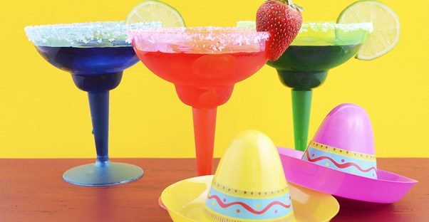 Festive drinks for a Cinco de Mayo party.