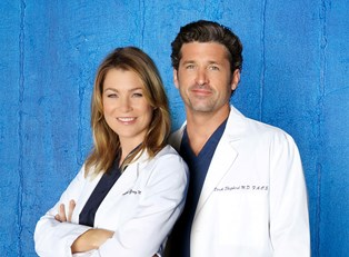 Meredith and Derek from Grey's Anatomy