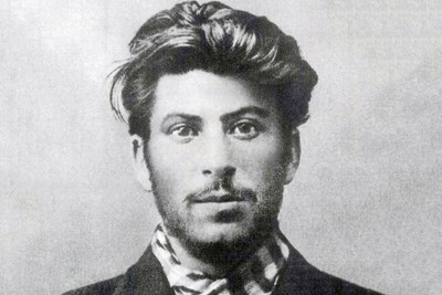 An image of young Joseph Stalin.