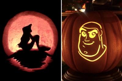 disney pumpkin carvings