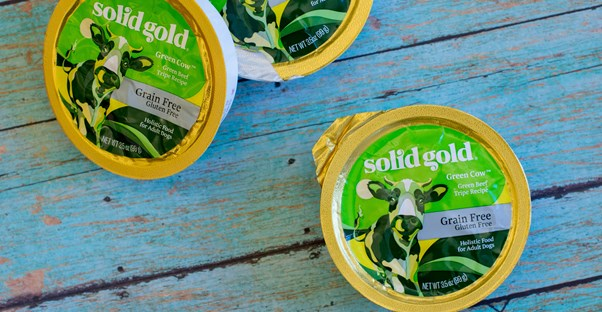 solid gold green cow beef tripe cups