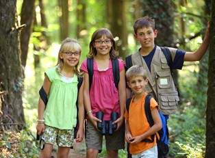 Kids on a nature hike.