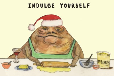 jabba the hutt christmas card