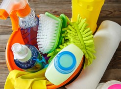 Supplies for cleaning your home