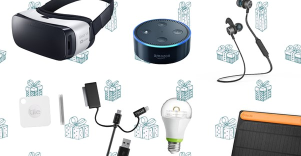 a selection of tech gifts