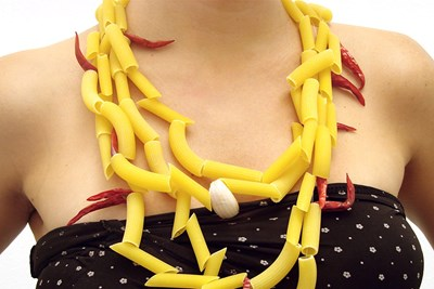 A pasta necklace