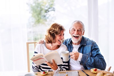 Older couple enjoying their peace in a newly empty home