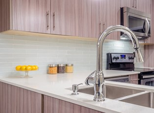 a remodeled kitchen shines with sparkling newness