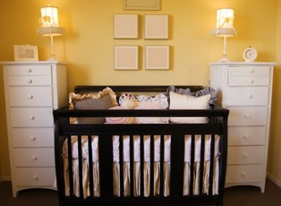 a well-organized nursery awaits a baby's arrival