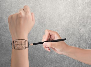 a person customizing a smart watch