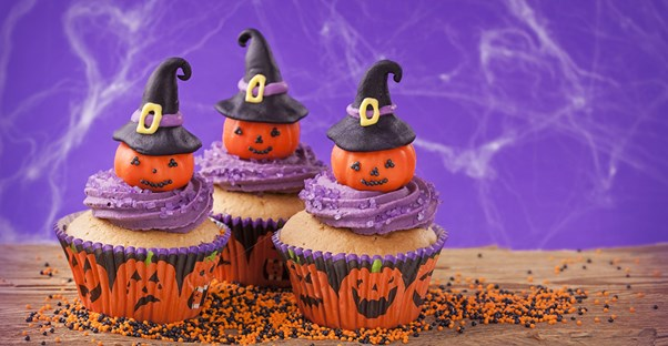 Halloween cupcakes for a kid party