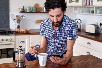 a man using coffee hacks